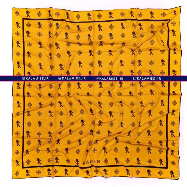 روسری ابریشم هرمس دست دوز مدل پرشین آپریکات