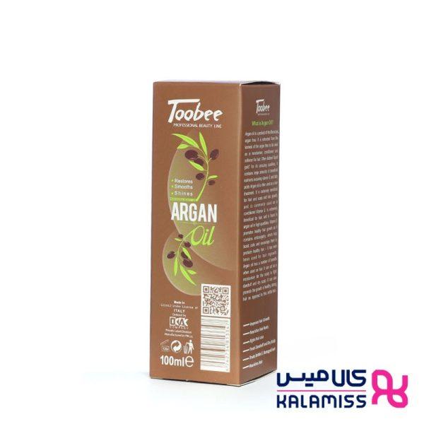 سرم ترمیم کننده پوست و موهای خشک و آسیب دیده حاوی روغن ارگان توبی 100 میل Toobee argan oil