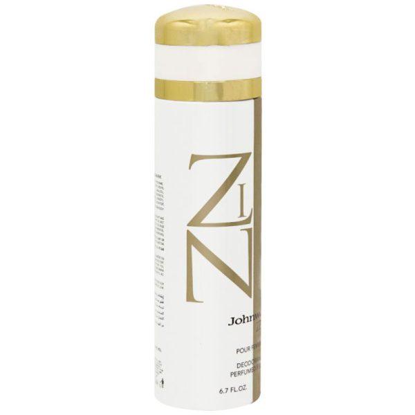 اسپری دئودورانت زنانه جان وین مدل Zin حجم 200 میل Johnwin Zin Spray For Women 200ml