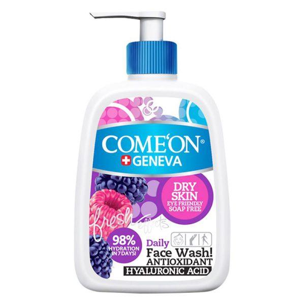 شوینده صورت کامان مناسب پوست خشک حجم ۵۰۰ میل Comeon Dry Skin Face Wash 500 ml