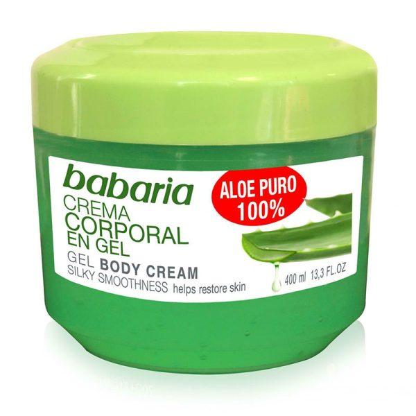 ژل آبرسان عمیق بدن حاوی100% آلوورا 400میل Babaria Aloe Vera Smoothing Soothing Body Gel 400ml