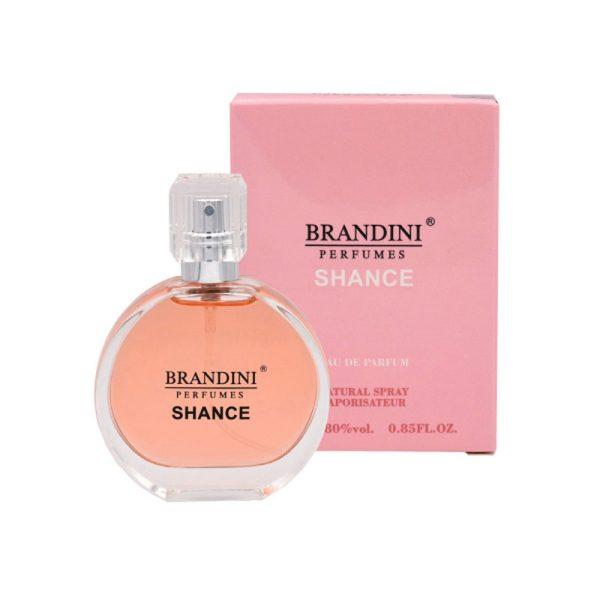 عطر جیبی زنانه برندینی Brandini مدل Shance حجم 25 میلی لیتر